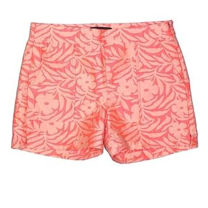 J. Crew Pink Tropical Floral Print Shorts Size 0